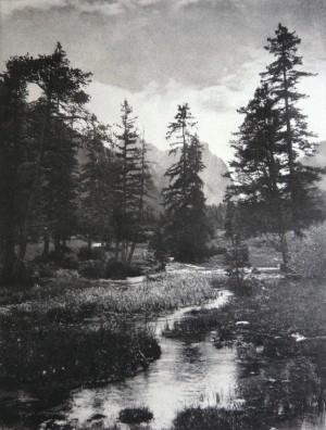 Dr. F. von Mixich (Autriche) - Entrée dans l'Ampezzothal - Journal Wier Photographische Blätter, 1895