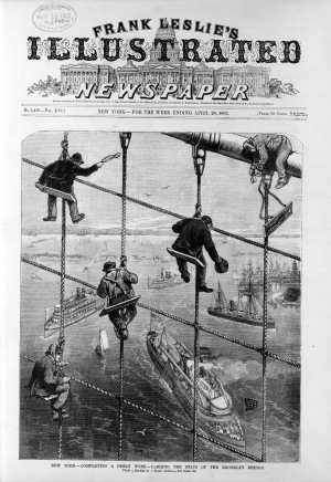 Frank Leslie's Illustrated Newspaper_Brooklyn Bridge New-York City, 1883