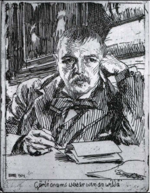 Anders Zorn - autoportrait, gravure de 1904