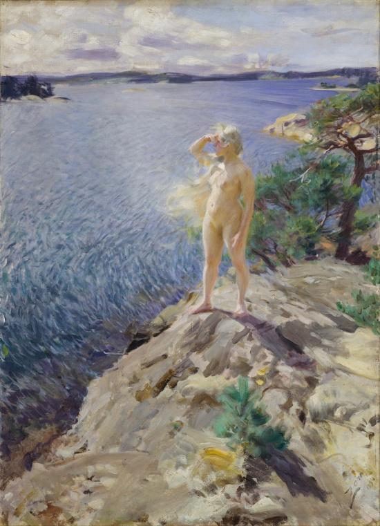 Anders Zorn - Dans les récifs, 1894 (Google Art Project)