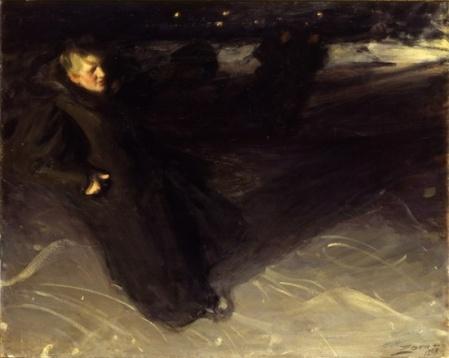 Anders Zorn - La patineuse, 1898 - musée Zorn, Mora