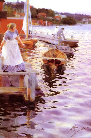 Anders Zorn - Lappings of the waves, 1887