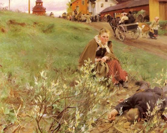 Anders Zorn - Mora Marknad, 1892