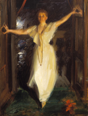 Anders Zorn -  Portrait d'Isabella Stewart Gardner à Venise, 1894