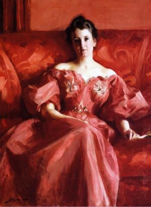 Anders Zorn - Portrait of Mrs. Howe,1900