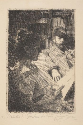 Anders Zorn - Reading (Mr. and Mrs. Charles Deering), 1893