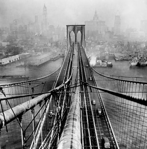 Arthur Leipzig - Brooklyn Bridge, 1946