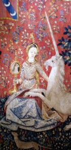 la Dame à la licorne - Tapisserie du Moyen Âge, (fin XVe siècle)