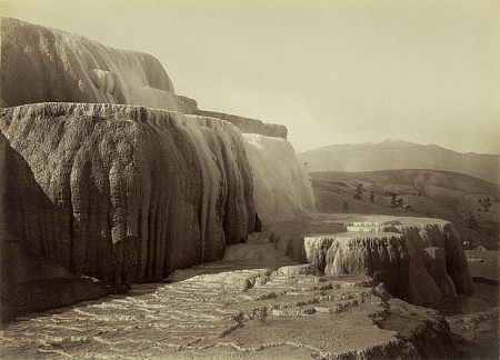 Carleton Watkins, Minerva's Terraces%22, Yellowstone, Wyoming, 1885