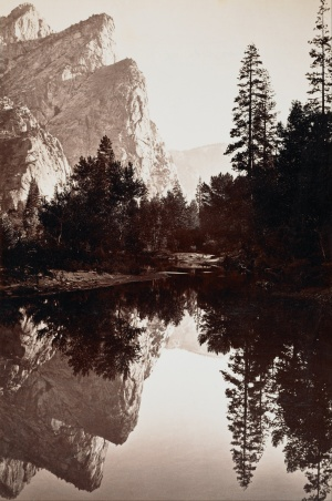 Carleton E. Watkins -Three Brothers, Yosemite - 1844-1916 (Google Art Project)