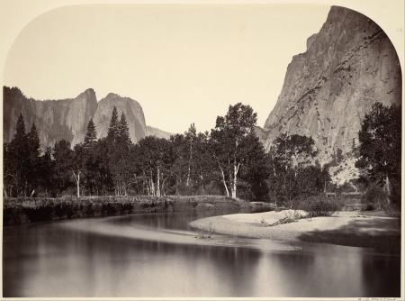 Carleton E. Watkins - Vue du Camp Grove, Yosemite - 1861