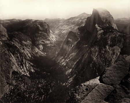 Carleton Watkins - Half Dome, Yosemite Valley, California,1865