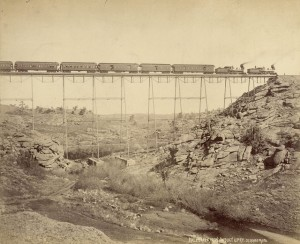 Charles Roscoe Savage - Dale Creek Iron Viaduct, 1869