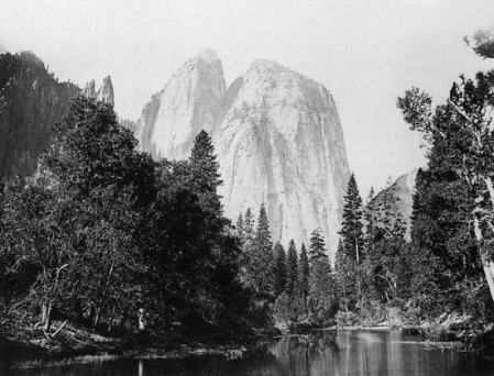 Carleton Watkins - El Capitan in Yosemite Valley, east-central California, vers 1866