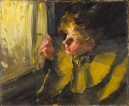 Anders Zorn - Omnibus (study) – oil sketch, 1892
