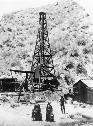 Carleton Watkins - Pico derrick Star Oil Works, 1877