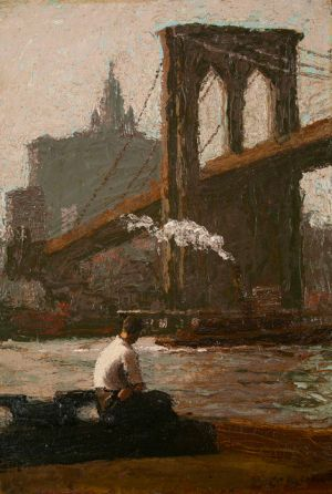 Robert Knight Ryland - The Bridge Pier, date inconnue
