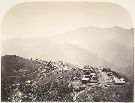 Carleton Watkins - The Town on the Hill, New Almaden, 1863