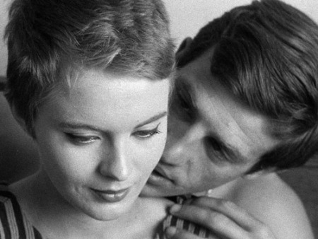 Jean Seberg et Belmondo dans A bout de souffle