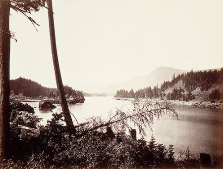 Carleton Watkins - View on the Columbia, Cascades, 1867