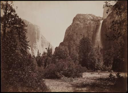 Carleton Watkins - vue du Tutocanula Pass, Yosemite, Californie - vers 1878-1881