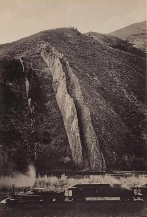 Watkins-The Devil's Slide, Weber Canyon, Utah, 1873
