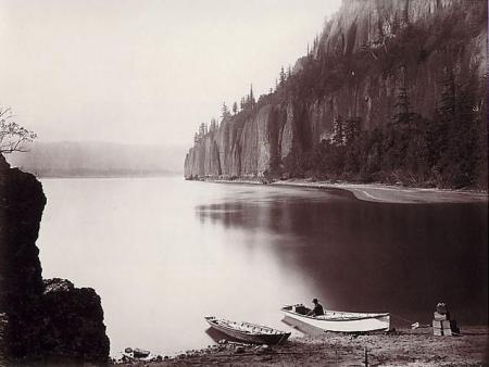 Carleton Watkins - Cape Horn, Columbia River, 1867