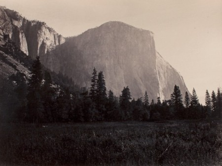 Watkins - El Capitan at the Foot of the Mariposa Trail, VERS 1865-66