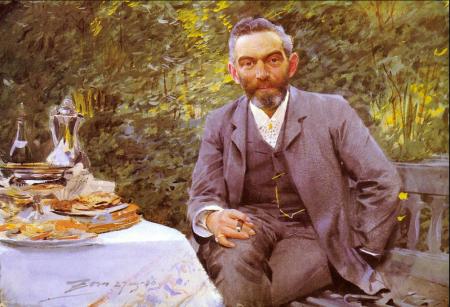 Anders Zorn - Breakfast in the green, 1886
