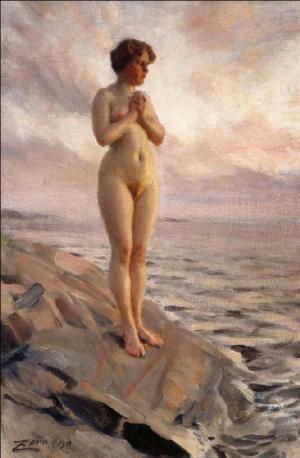 Anders Zorn - femme nue, 1910