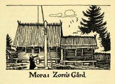 Zorn Garden, bois gravé, 1938