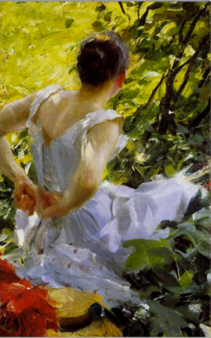 Anders Zorn - In the woods, 1893