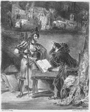 Faust de Gœthe, Méphistophélès offrant son aide à Faust par Delacroix