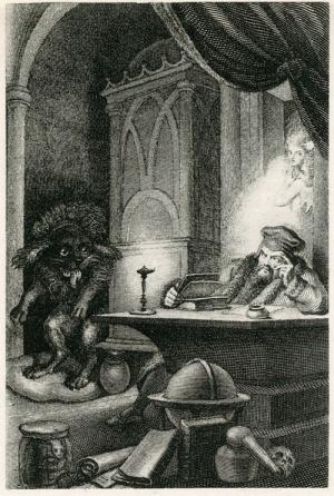 Faust de Gœthe, Méphistophélès en chien - illustration de Johann Heinrich Ramberg