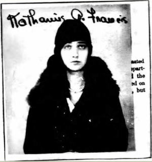 Kay Francis - photo de son passeport pour la France en 1925