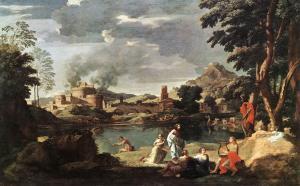 Nicolas Poussin - Paysage avec Orphée et Eurydice, 1650-1653