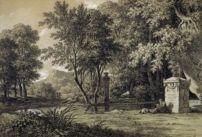 Pierre-Henri de Valenciennes Paysage classique avec monument -