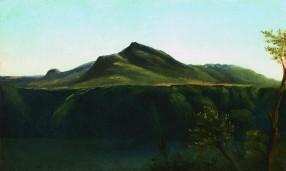 Pierre-Henri de Valenciennes - Vue du Monte Cavo sur le Lac d'Albano, 1782-84