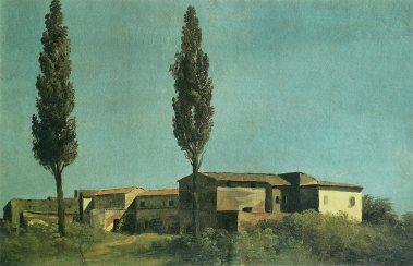 Pierre-Henri de Valenciennes - Villa Farnèse, les deux peupliers, 1780