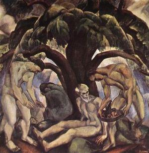 Derkovits Gyula - Dessous le grand arbre, 1922