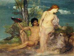 Arnold Bocklin - Calypso et Ulysses, 1864