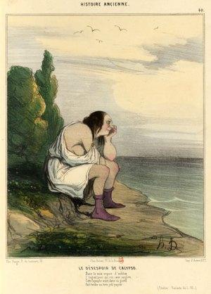 Honoré Daumier - le désespoir de Calypso, 1842