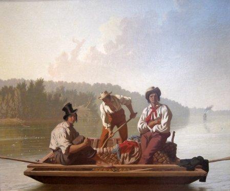 George Caleb Bingham - mariniers descendant le Missouri, 1846