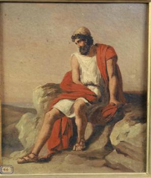 Bodinier Guillaume - Ulysse dans l'ile de Calypso, premier quart XIXe siècle