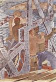 Derkovits Gyula - les constructeurs de ponts, 1932