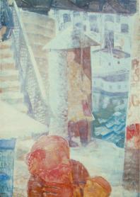 Derkovits Gyula - pont en hiver, 1933