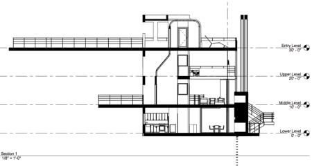 Douglas House - Coupe transversale (crédit Mark Turibius Jongman-Sereno)