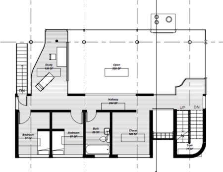 Richard Meier - Douglas House - niveau supérieur