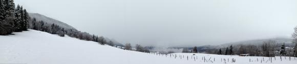 Graphisme d'hiver - col de Leschaux dans les Bauges - photo Enki le 16/02/2014