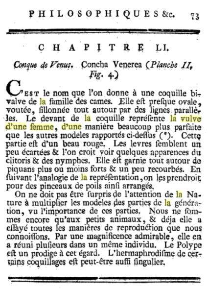 Conqua Venerea par Jean Baptiste René Robinet